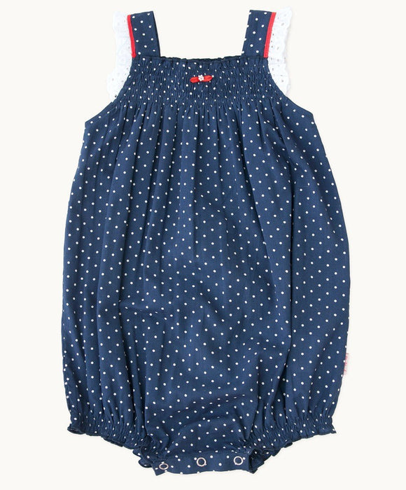Betty Blue Cotton Romper - Visible.Clothing