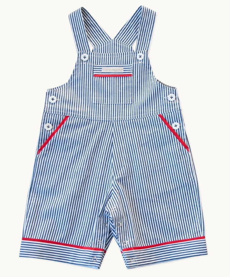 Boston Stripe Overalls