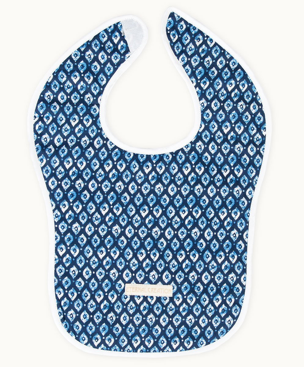 Byron Blues Cotton Bib - Visible.Clothing