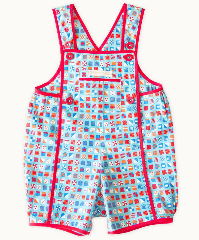 Heraldic Boy Cotton Playsuit - Visible.Clothing