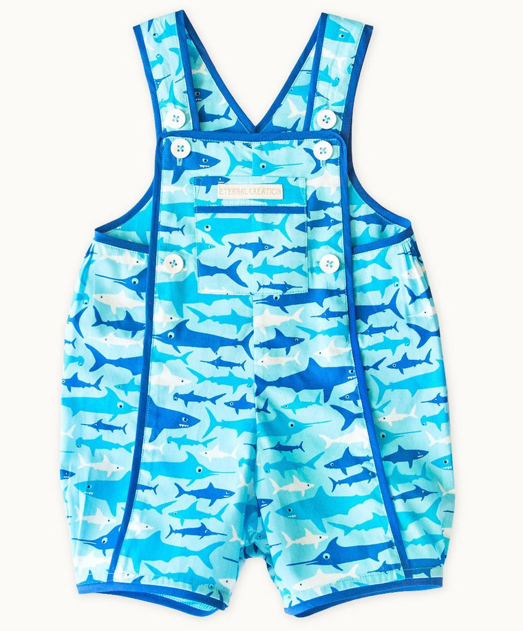 Sharks Cotton Playsuit