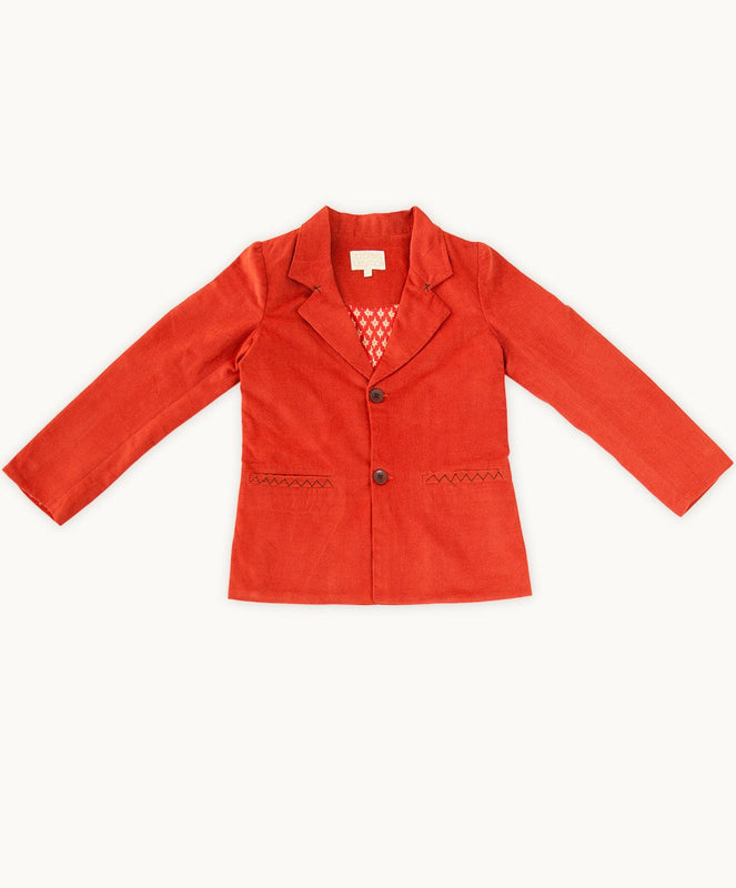 Burnt Orange Corduroy Jacket