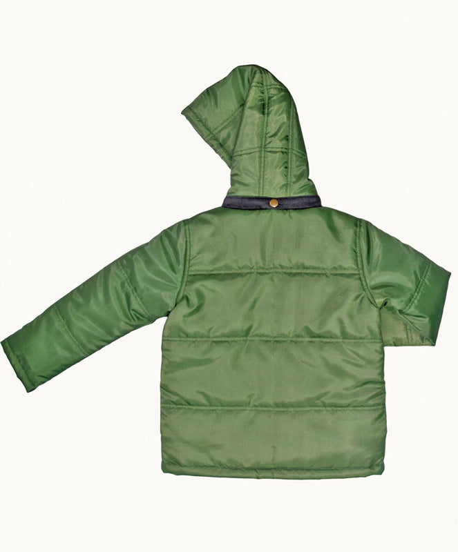 Olive Winter Warmer Coat - Visible.Clothing