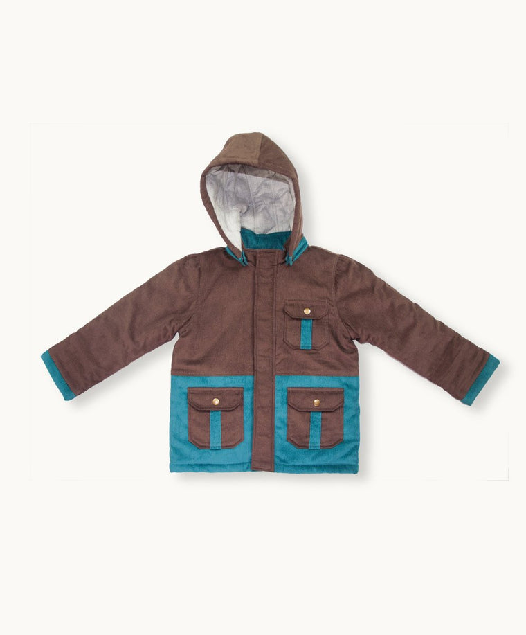 Coffee Baby Cord Coat