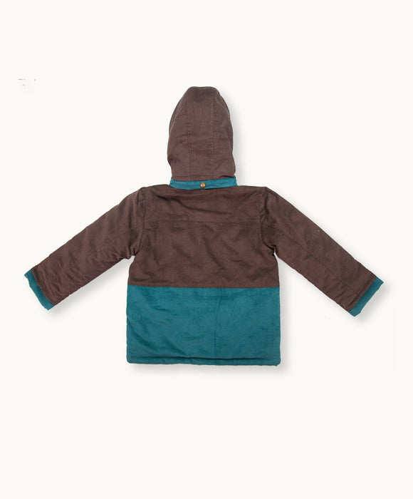 Coffee Baby Cord Coat - Visible.Clothing