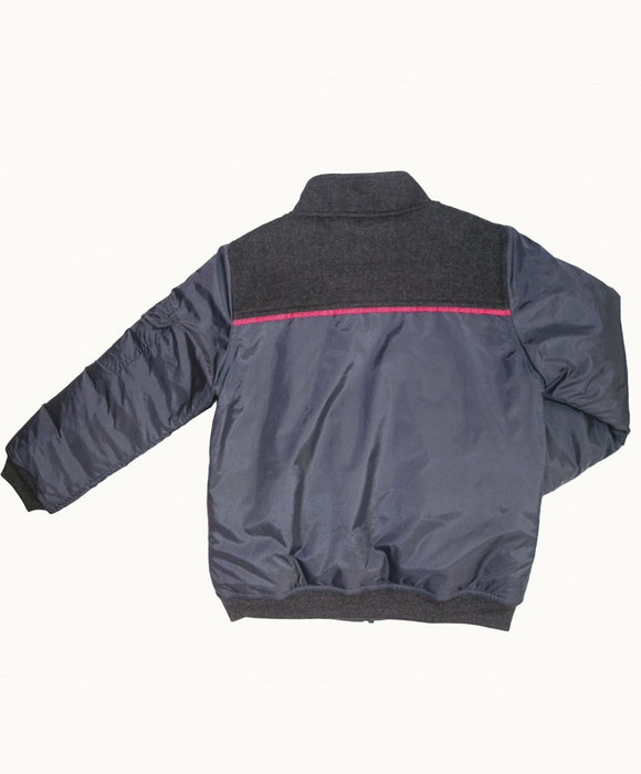 Grey Baseball Jacket - Visible.Clothing