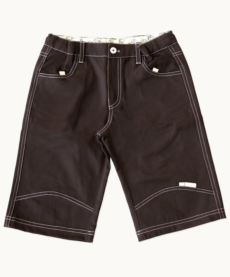 Chocolate Cotton Shorts