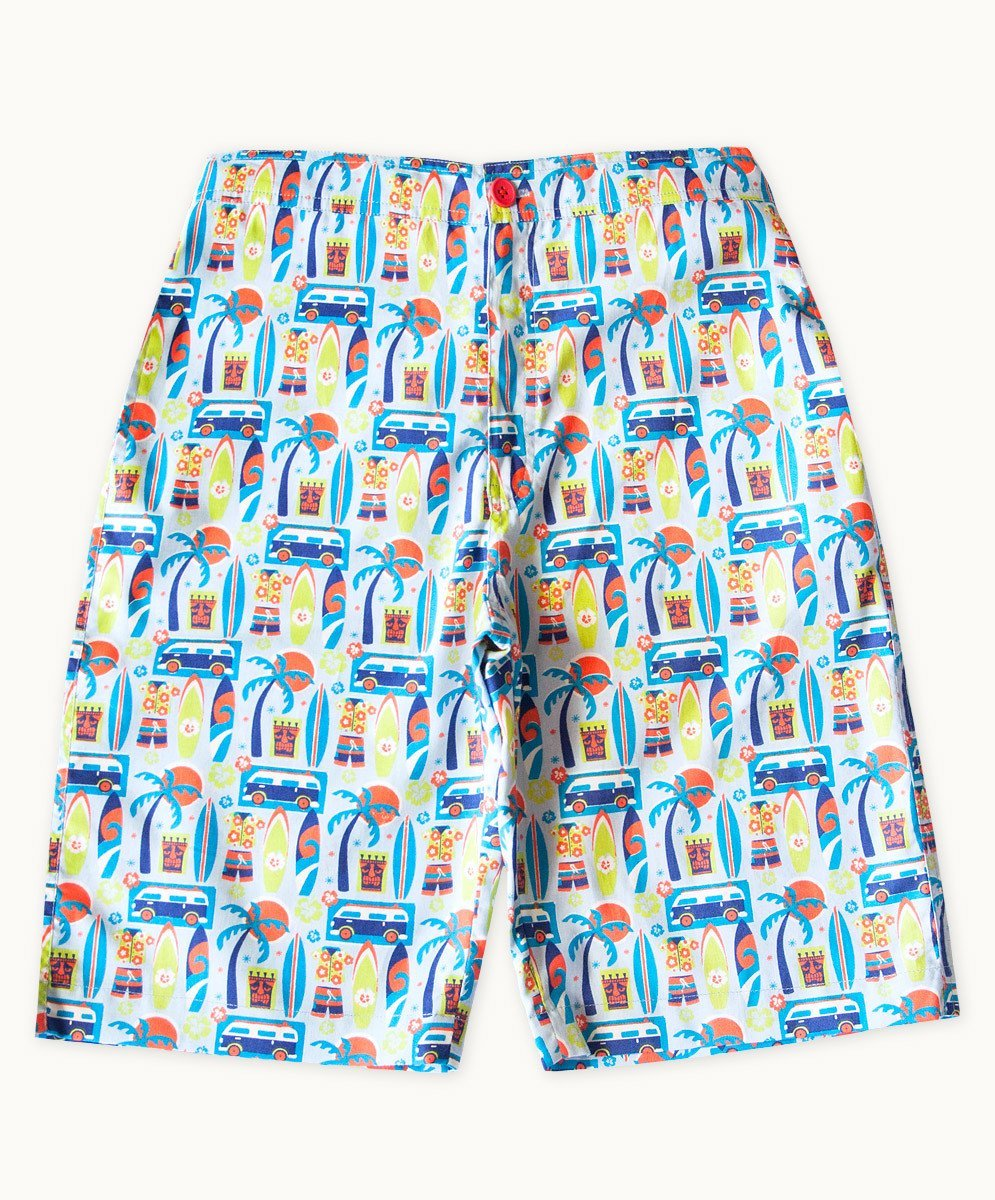 Surfers Life Cotton Shorts - Visible.Clothing