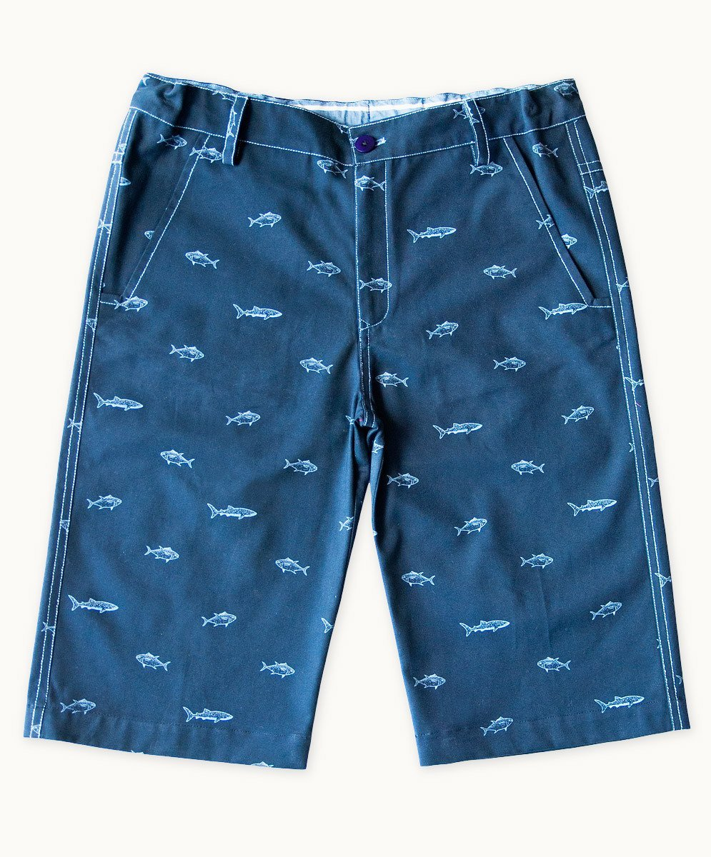 Deep Sea Blues Summer Shorts - Visible.Clothing