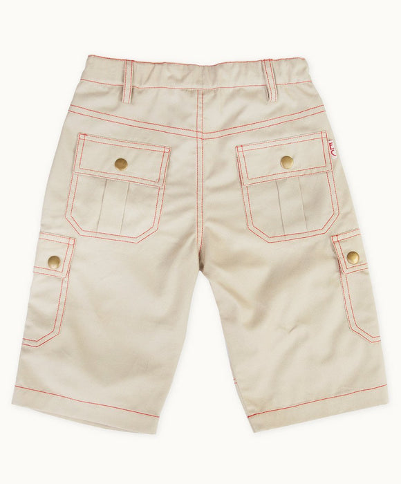 Beige Twill Summer Shorts - Visible.Clothing