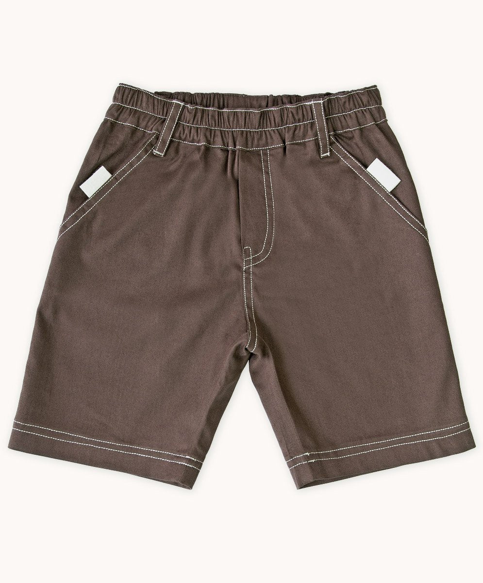 Handy Chocolate Twill Shorts - Visible.Clothing