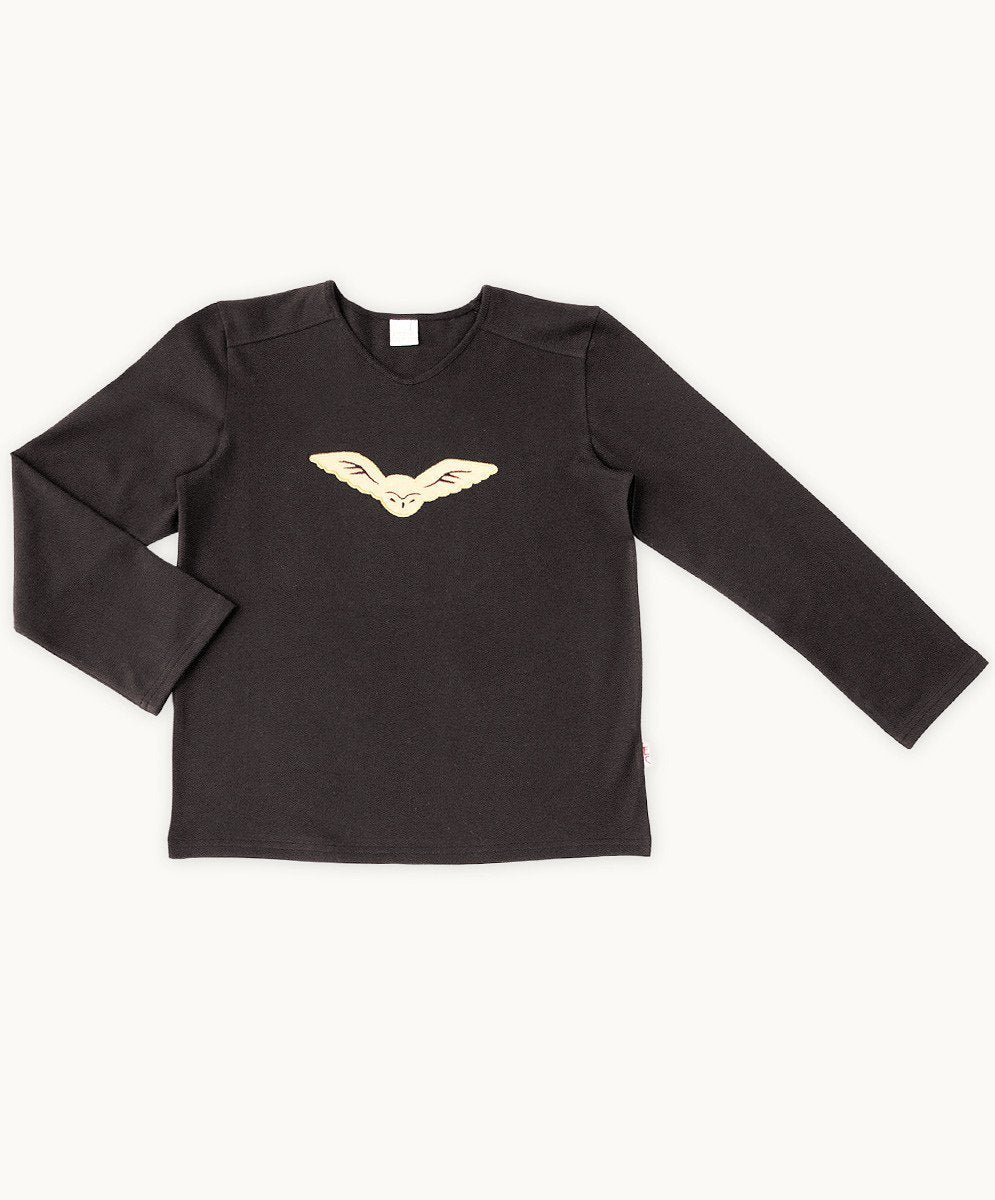 Baby Boys Black Night Owl Tee - Visible.Clothing