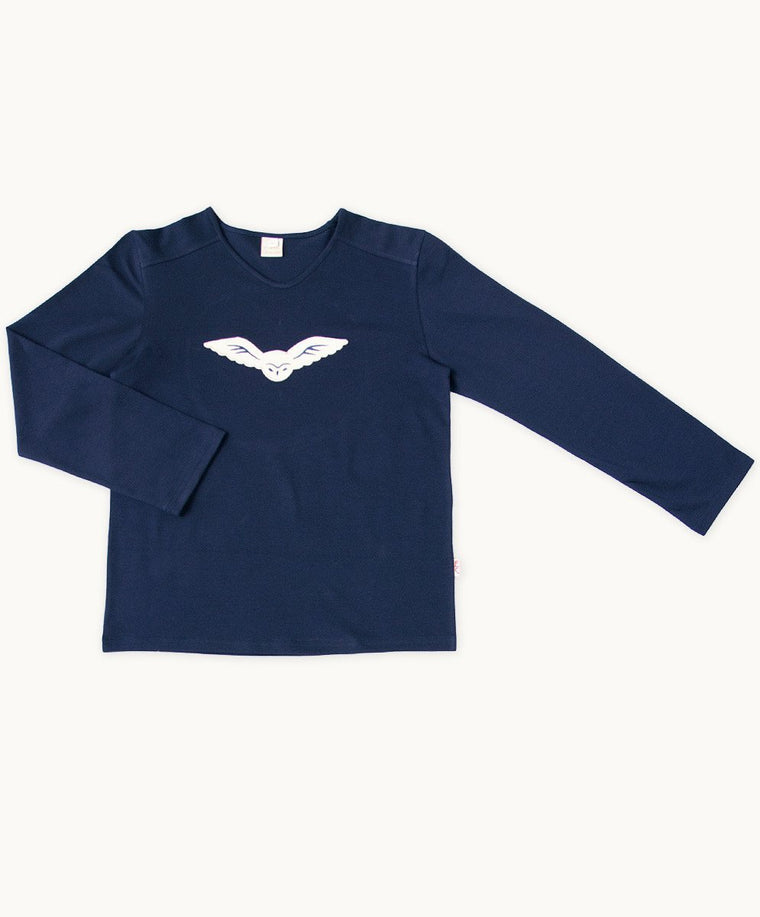 Baby Boys Navy Night Owl Tee