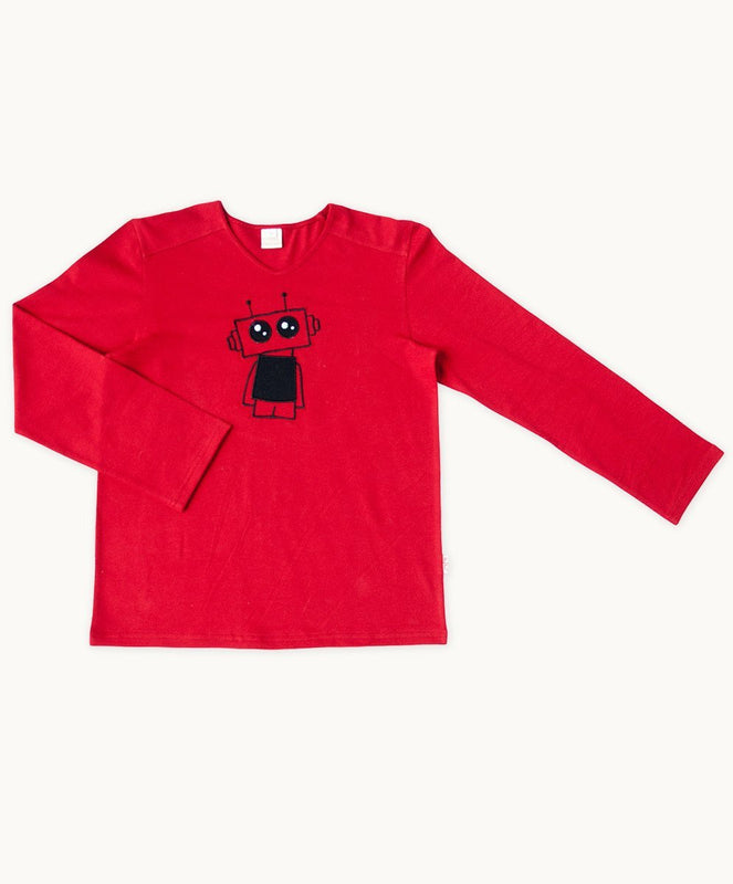 Baby Boys Red Robot Tee - Visible.Clothing
