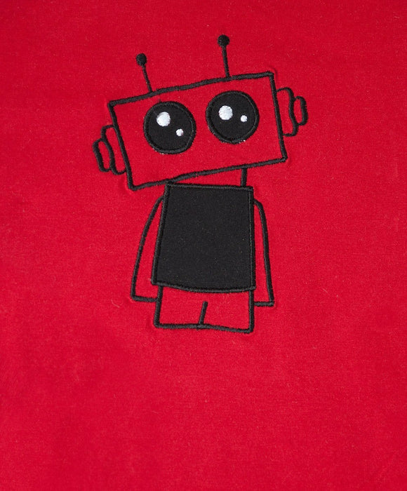 Red Robot Winter T-Shirt - Visible.Clothing