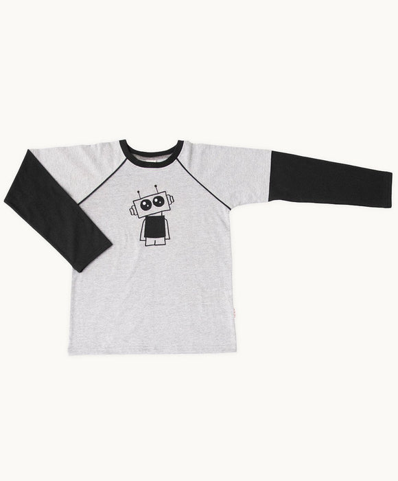 Grey Robot Winter T-Shirt - Visible.Clothing