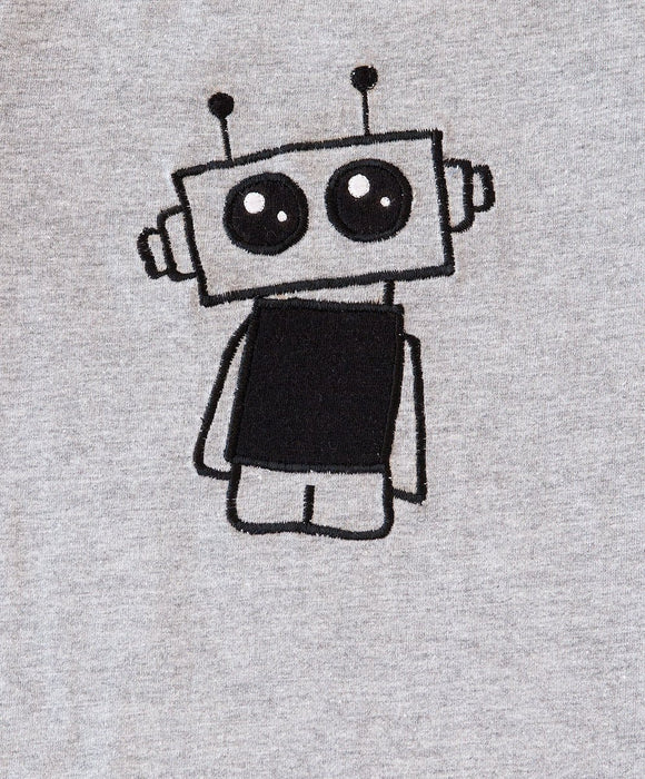 Baby Boys Grey Robot Tee - Visible.Clothing