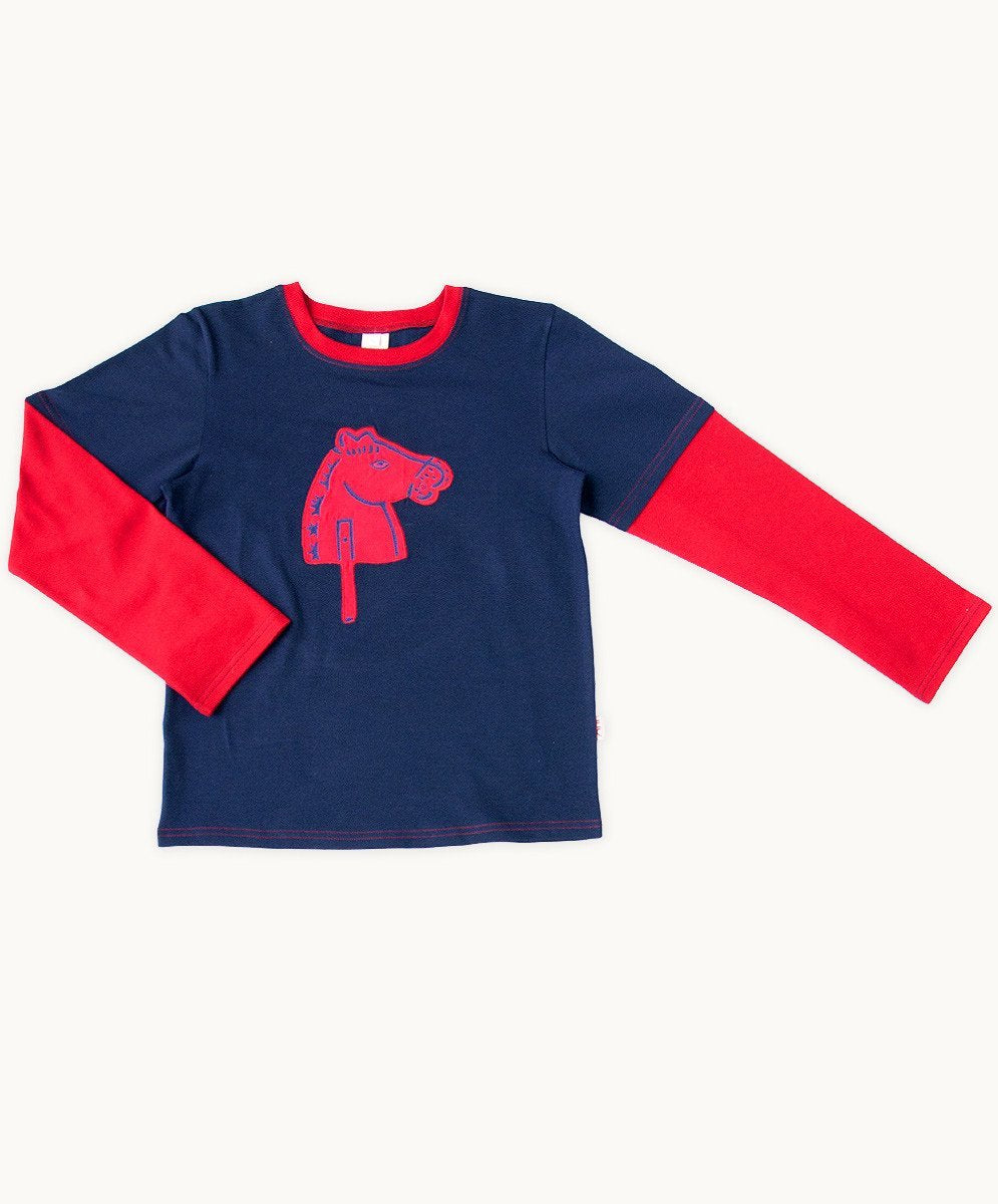 Baby Boys Navy Horse Tee - Visible.Clothing