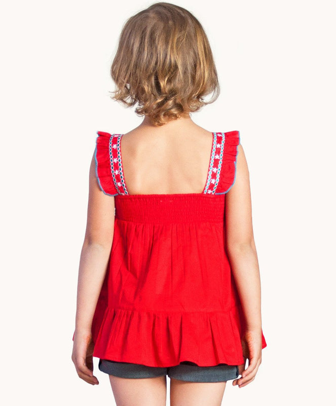 Embroidered Christmas Top - Visible.Clothing