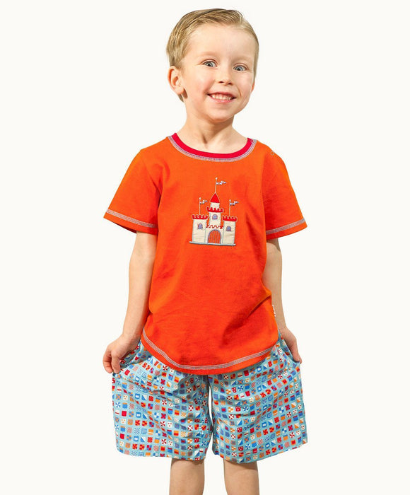 Heraldic Boy Cotton Shorts - Visible.Clothing