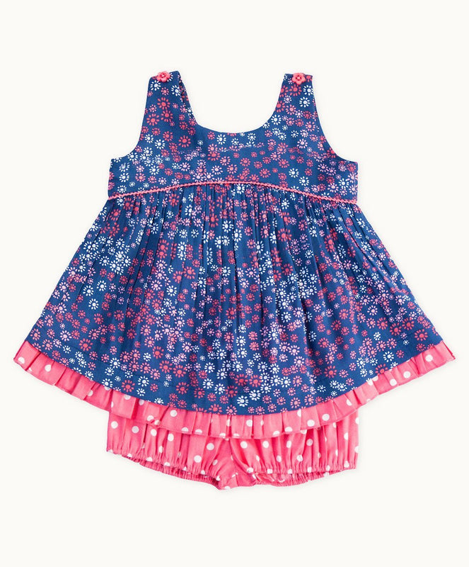 Arusha Lace Trimmed Baby Set - Visible.Clothing