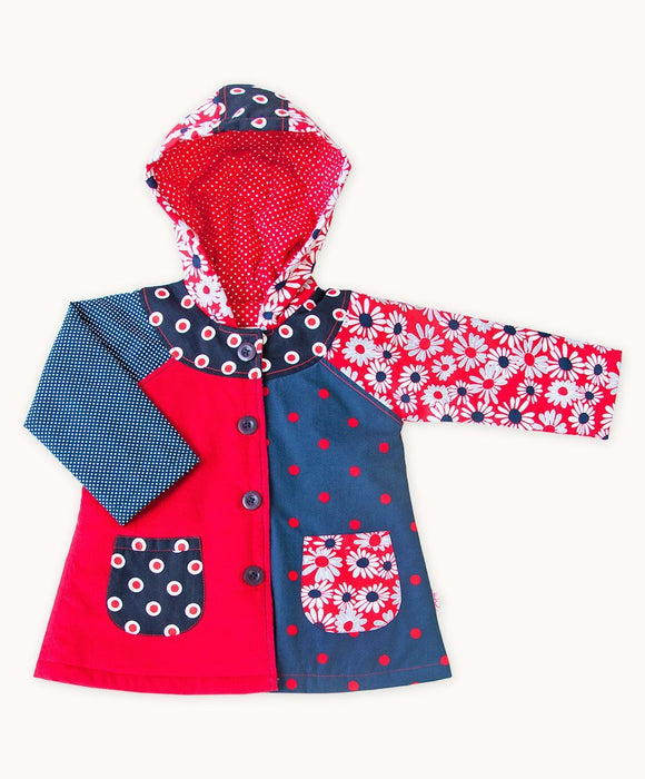 French Daisy Patchwork Coat - Visible.Clothing