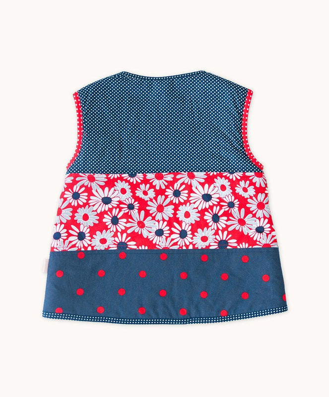 French Daisy Side Button Vest - Visible.Clothing