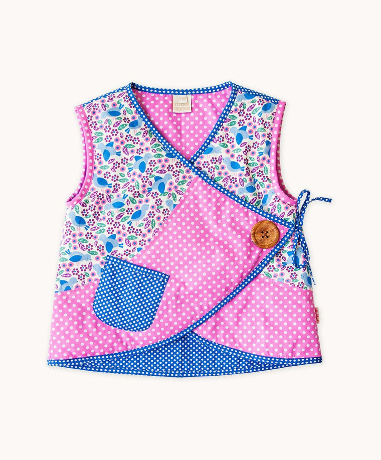Blue Bird Side Button Vest