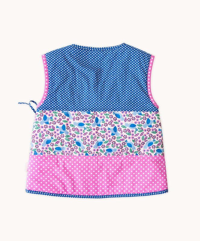 Blue Bird Side Button Vest - Visible.Clothing