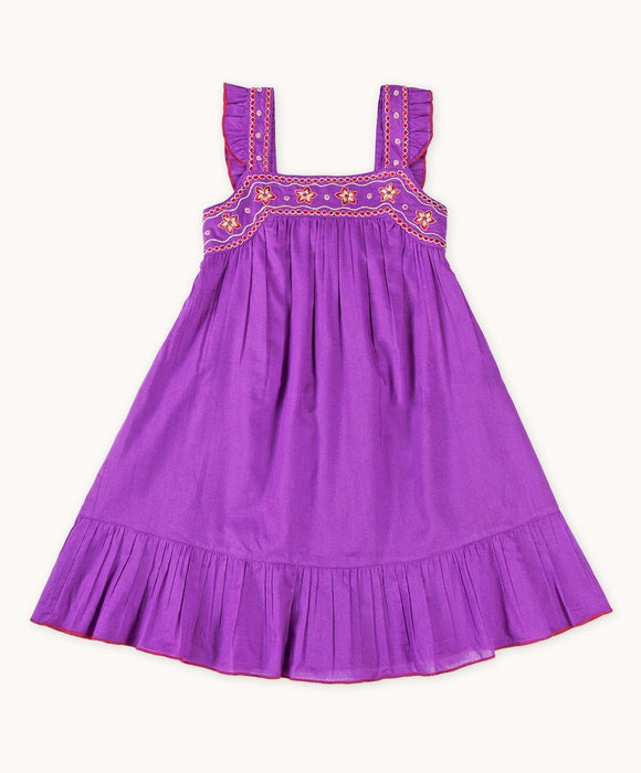 Gorgeous Purple Embroidered Sundress - Visible.Clothing