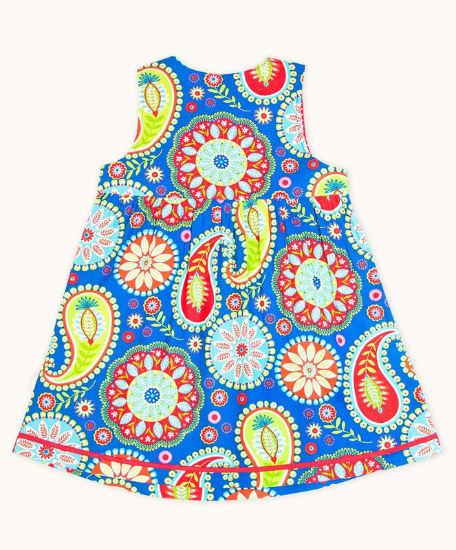 Blue Carnival Pocket Dress - Visible.Clothing