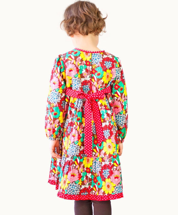 Floral Fiesta Tie-Back Dress - Visible.Clothing