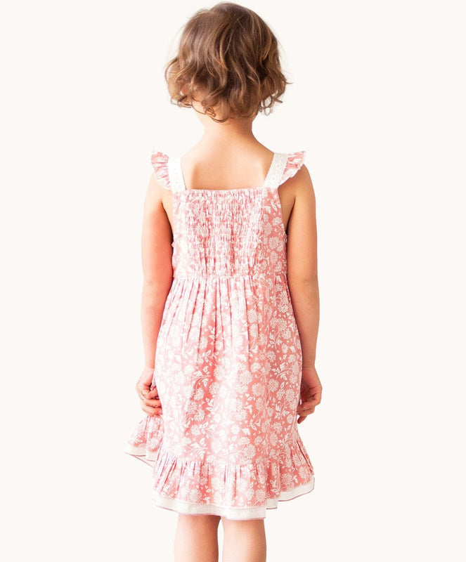 Pink Manon Lace Party Dress - Visible.Clothing