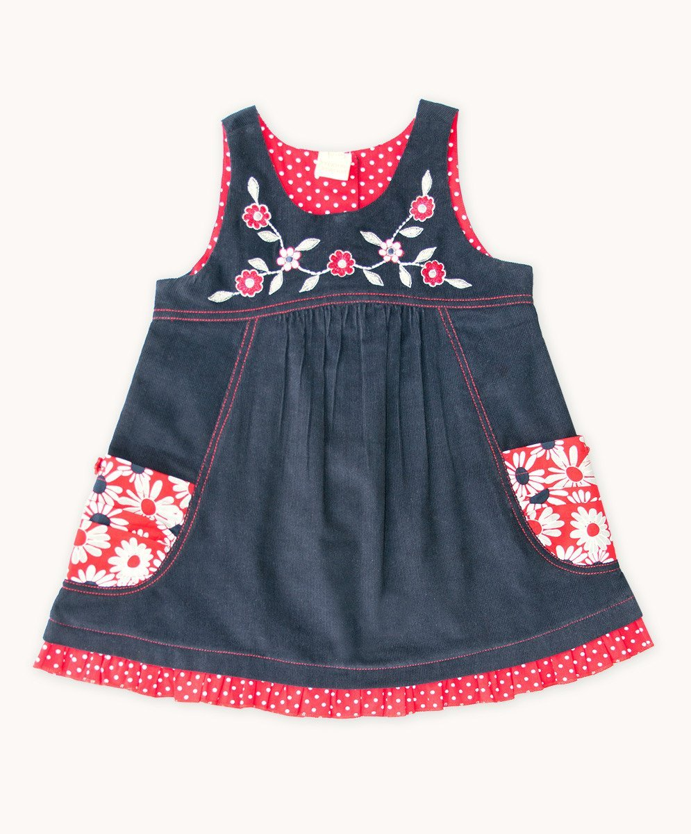 French Daisy Embroidered Dress - Visible.Clothing