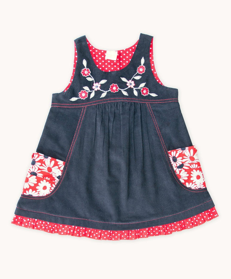 French Daisy Embroidered Dress