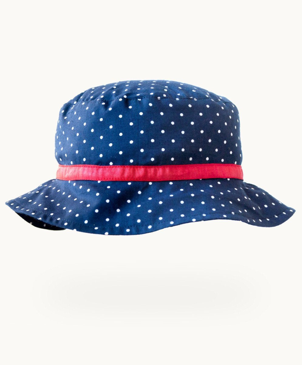 Betty Blue Cotton Summer Hat - Visible.Clothing