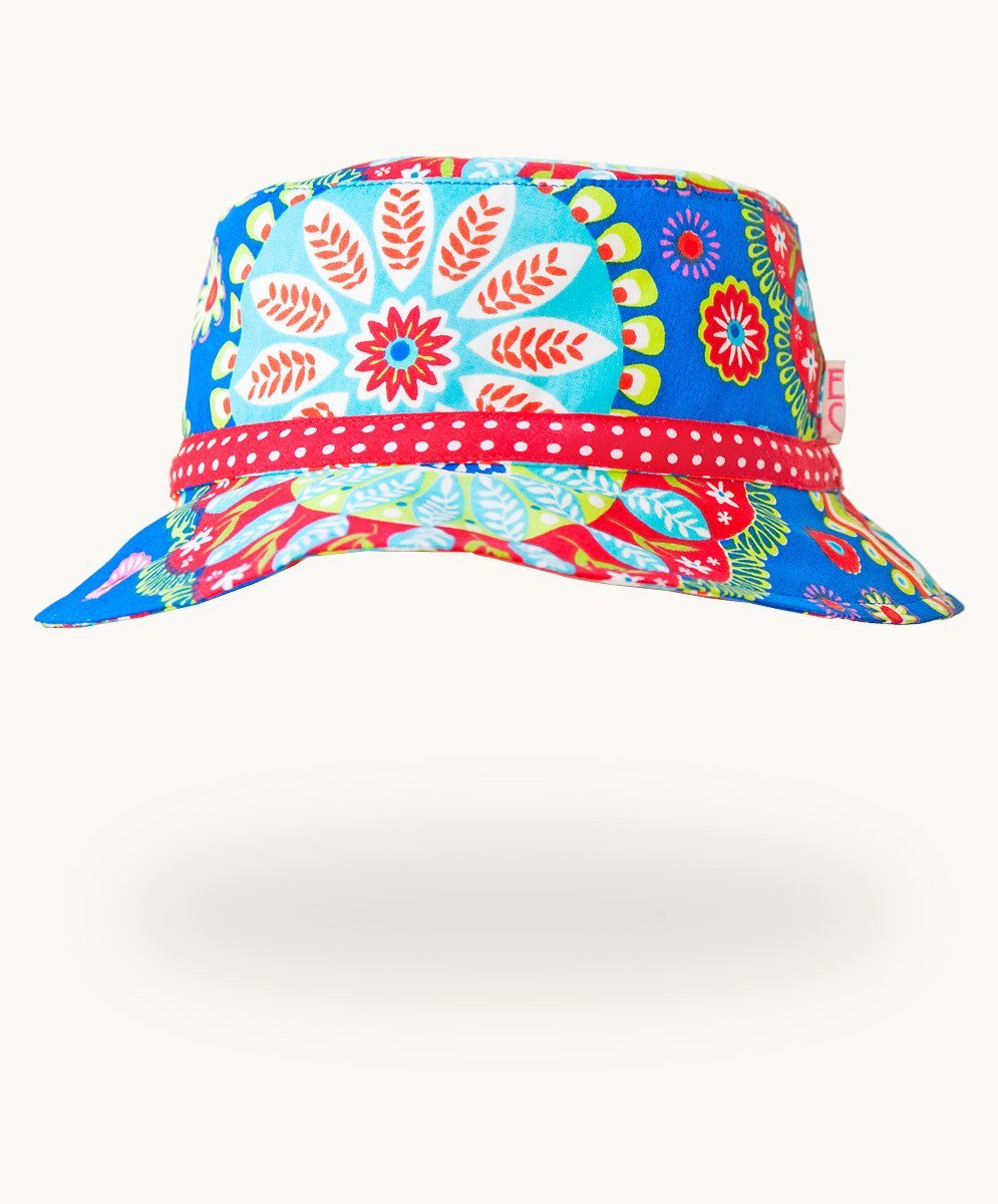 Blue Carnival Cotton Sunhat - Visible.Clothing