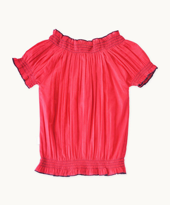 Embroidered Strawberry Gypsy Top - Visible.Clothing