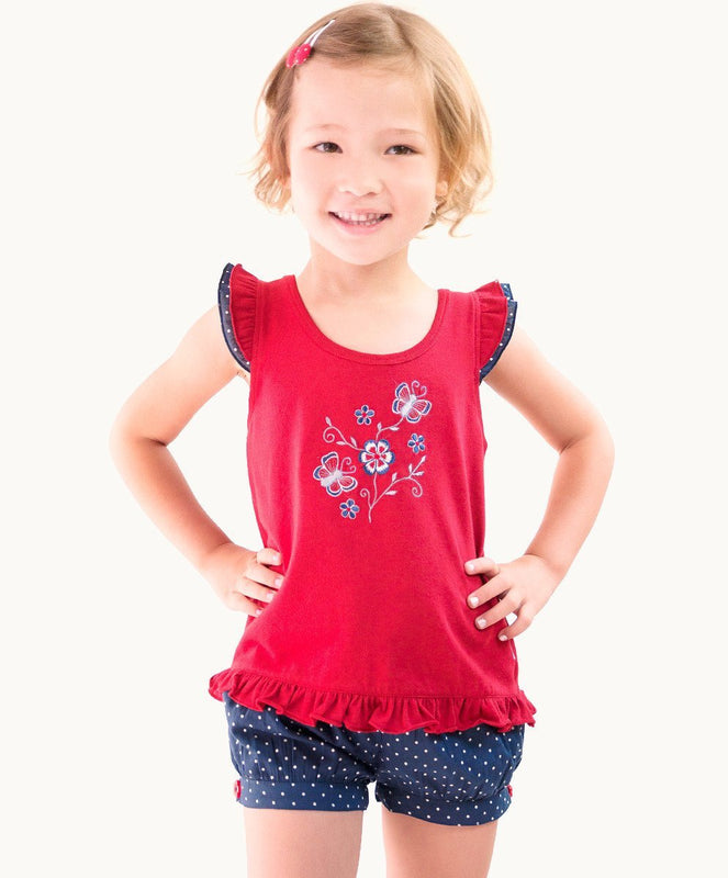 Fabulous Red Ruffle Butterfly Toddler Tee - Visible.Clothing