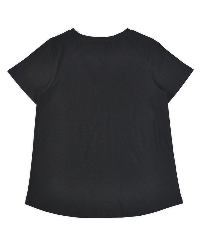 Black Dip Back Tee