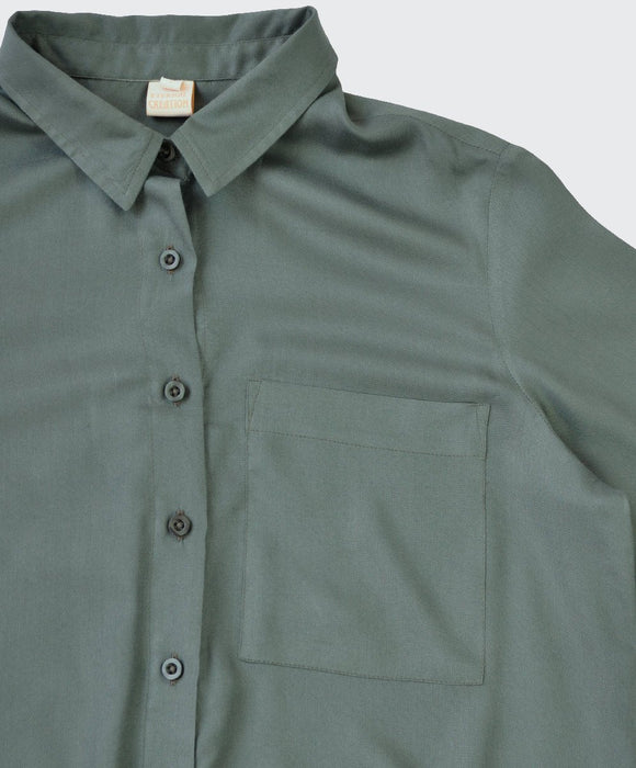 Olive Green  Wrap Shirt