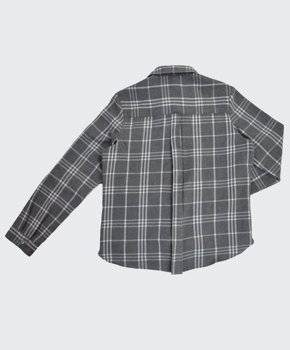 Melange Check Wrap Shirt