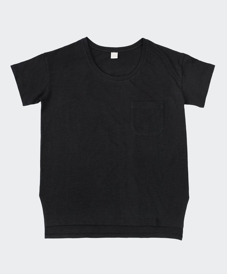 Black Slub Cotton T-Shirt