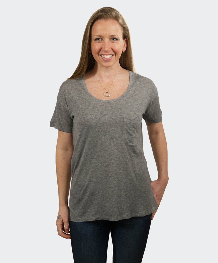 Jessica Grey Pocket Tee