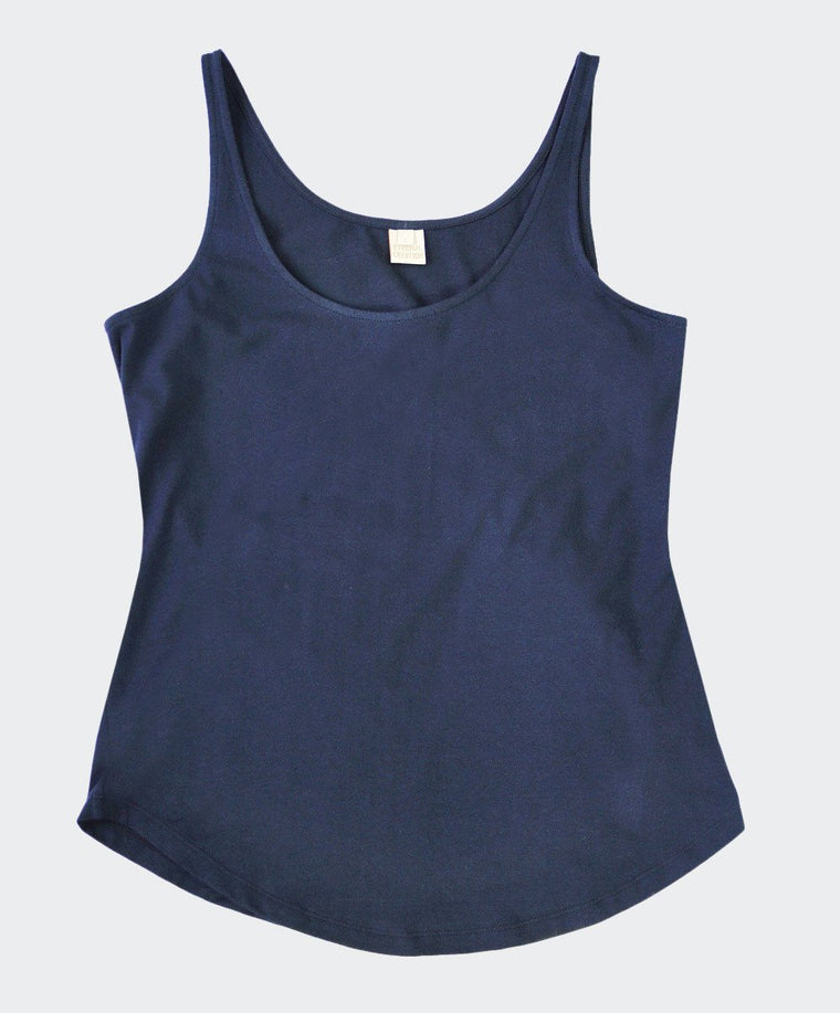 Awesome Navy Lycra Cotton Top