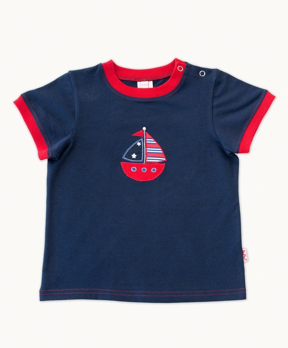 Fun Navy Boat T-Shirt - Visible.Clothing