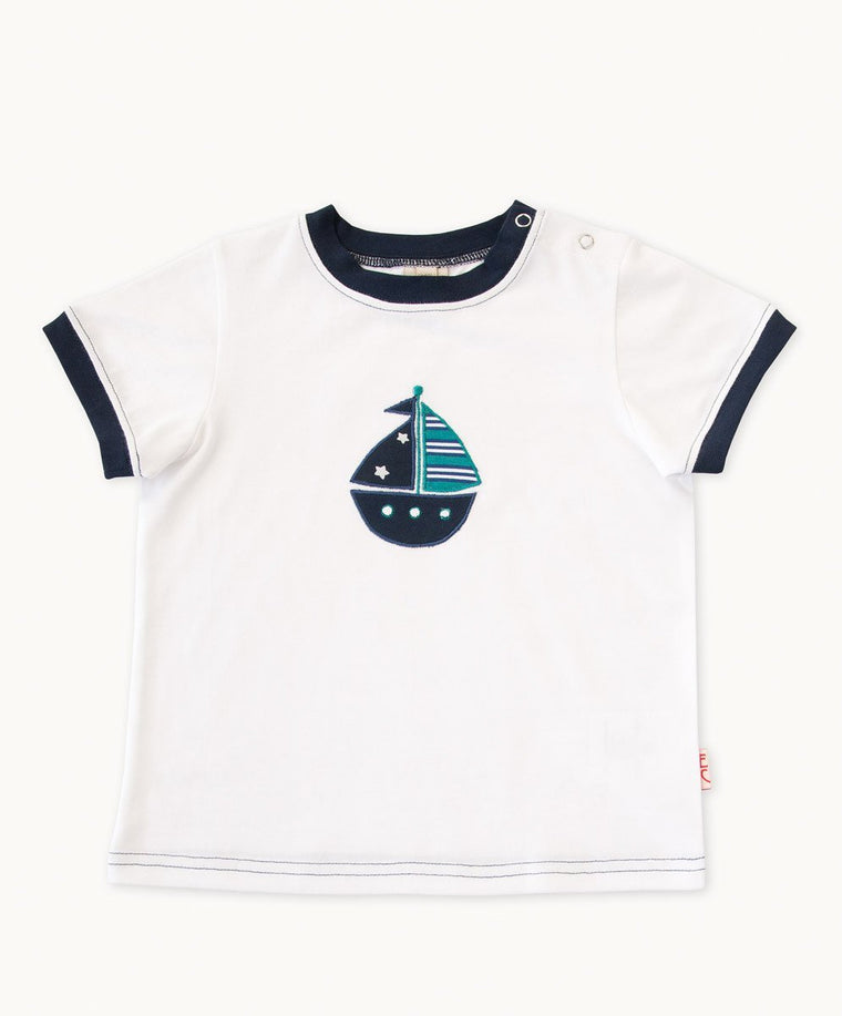 Fun White Boat T-Shirt