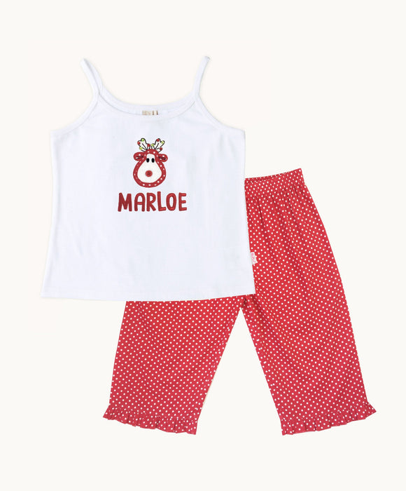 Personalized Reindeer PJ Set - Visible.Clothing