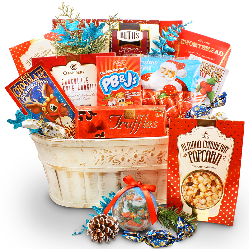 Dreaming of a White Christmas - Chocolate Gift Basket