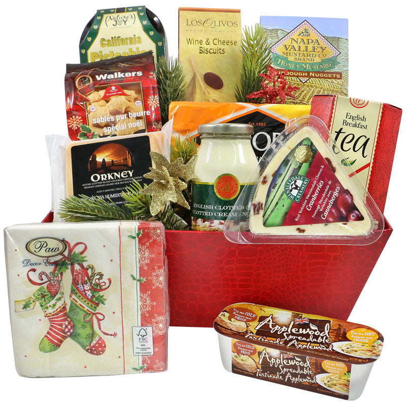 English Treats - Christmas Cheese Basket